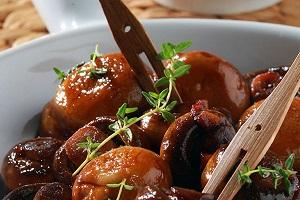 Μανιτάρια με σκόρδο και ξίδι μπαλσάμικο